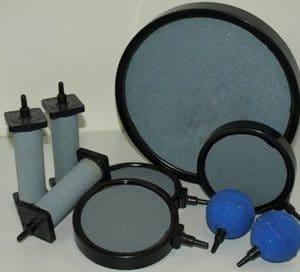 Luftsteinplatte Ø 216 x 26 mm mit Anschlußtülle 8mm