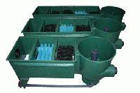 Aqualogistik Reihenvortexfilter mit 4 Filterkammern
