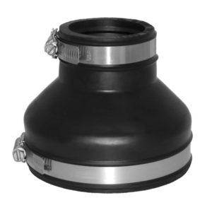 EPDM Adapterkupplung Ø 100 - 115 / 53 - 63 mm