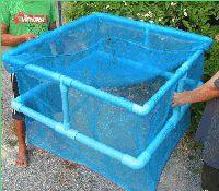 Hälternetz blau 96x96x80 cm